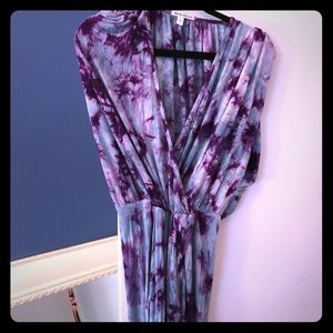 Dresses & Skirts - STUNNING turquoise and purple tie dye dress